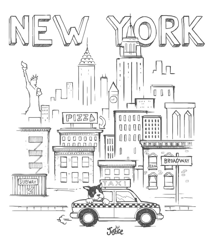 Broadway Pages Coloring Pages