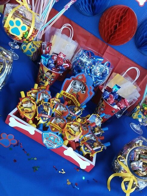 Paw patrol candy table  Paw Patrol  Pinterest  Candy table Paw and Candy