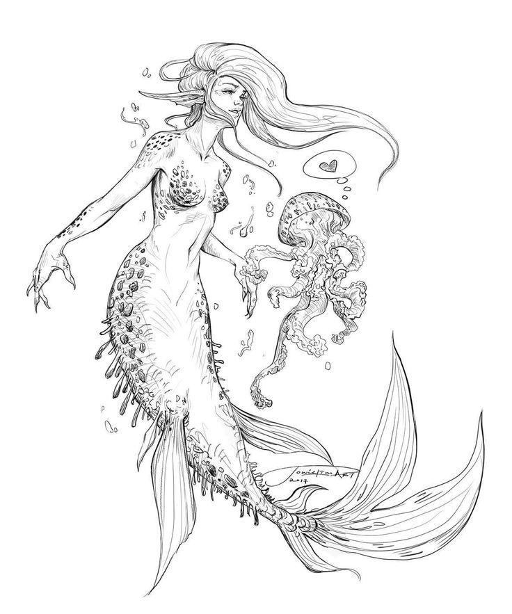 475 best Mermaid Coloring Sheets images on Pinterest