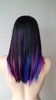 purple pink blue black kool hair