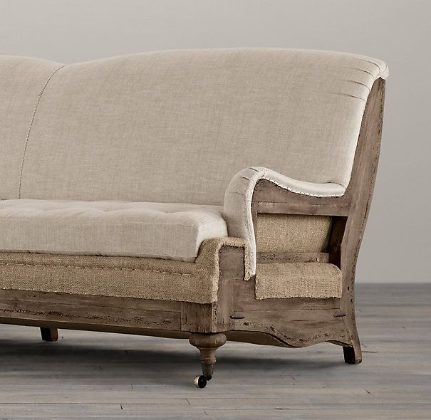 english roll arm sofa furniture 3 seater fabric grey deconstructed sofa- restoration hardware ...