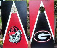 UGA cornhole boards set. Exterior vinyl decals. tailgating ...