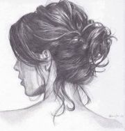 awesome art girl hair bun
