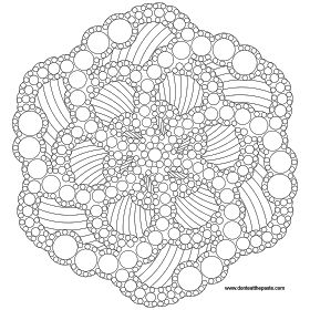 Dotted mandala to color- also available as a jpg #coloring