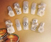 bridal wedding nails - vanilla