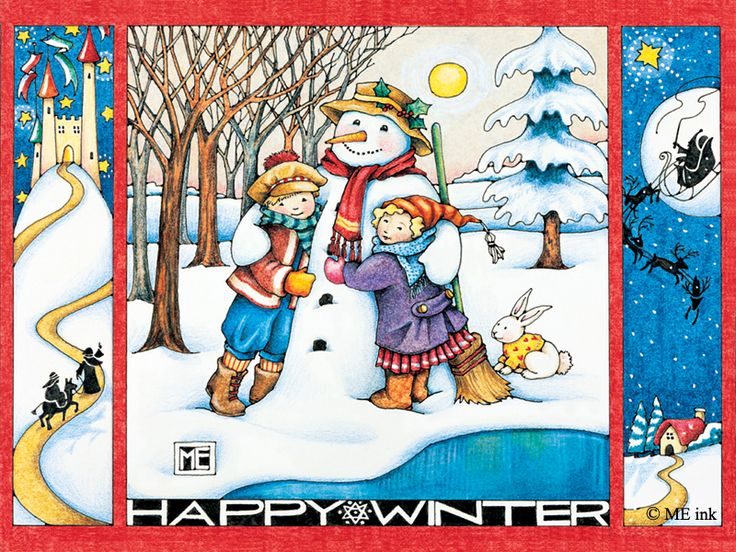 Happy Winter Free Wallpaper Download Mary Engelbreit