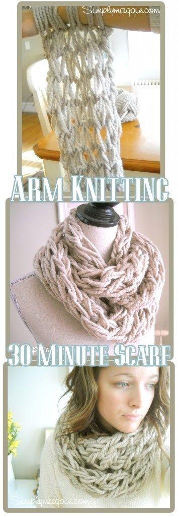 Arm Knitting Scarf
