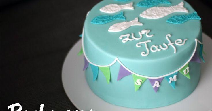 Torte Taufe Wimpelkette