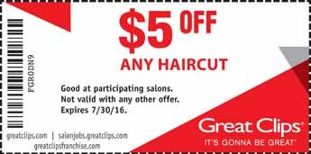 Great Clips Coupon 5 Off Any Hair Cut Hair Pinterest