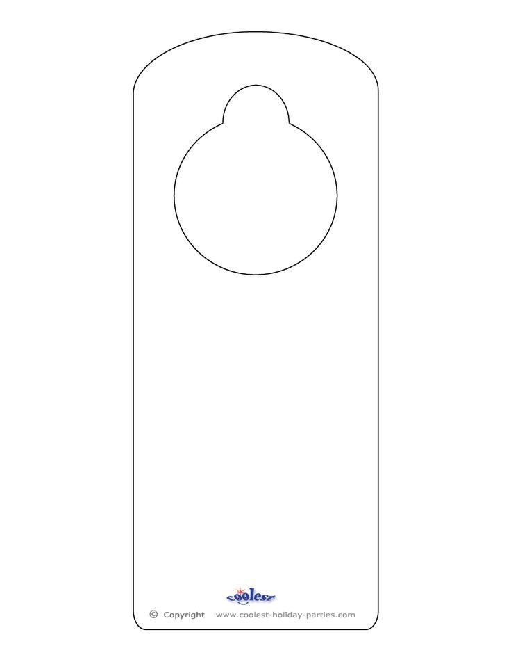 Door knob do not disturb hanger corporate empty template vector.