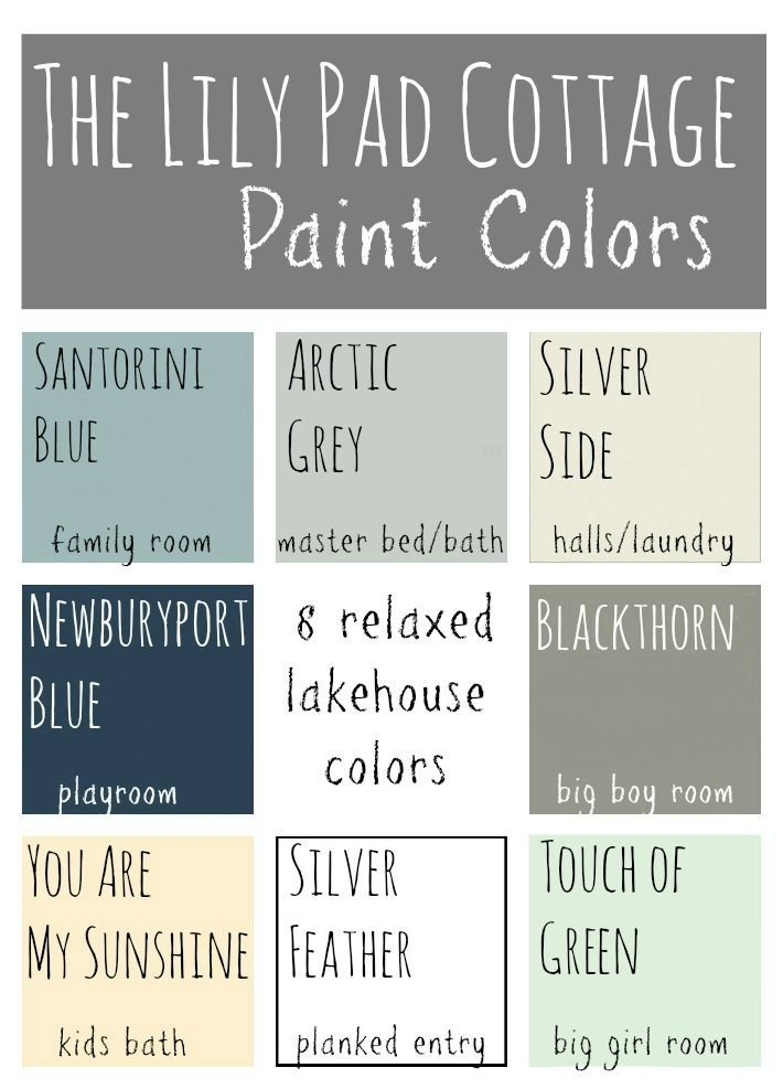 """Nice combo of """"lake house"""" colors for whole home; would tweak some of these but an idea to"""