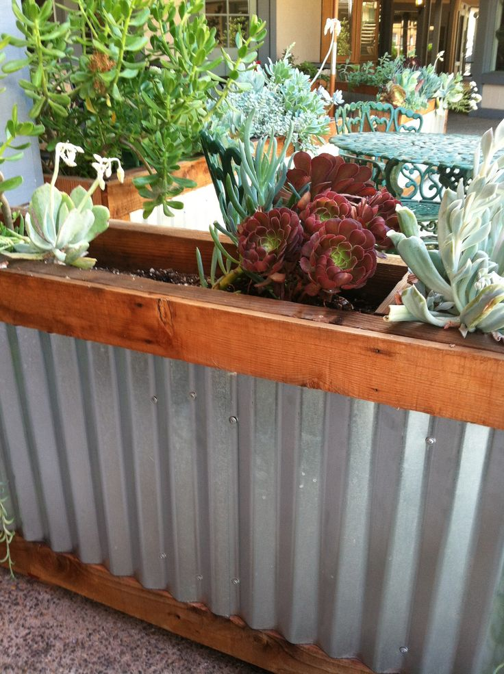 Corrugated metal planter box  The Great Outdoors  Pinterest  The ojays Search and Photos