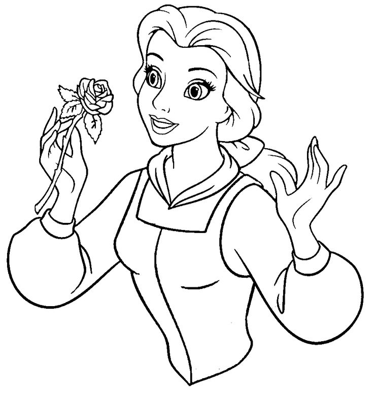 Beauty And The Beast Belle Hold A Sprig Of Flowers