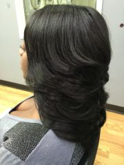 long layered quick weave work