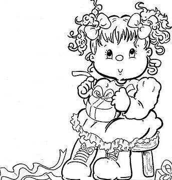 1000+ images about coloriage petite fille on Pinterest