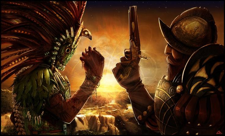 Conquistador Vs Mayan Wallpaper Conquistador Pinterest