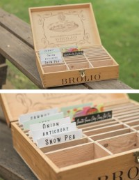 DIY Box for vegetable seeds, made from a wine crate ...