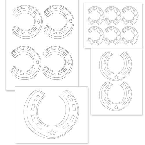 Printable Horseshoe Template from PrintableTreats.com