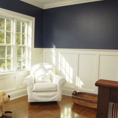Colors For Living Rooms 2016 L Shaped Couch Room Ideas Dark Blue Wall With Wainscoting - Google Search | The ...