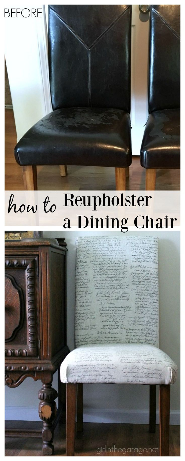 17 Best ideas about Dining Chair Redo on Pinterest