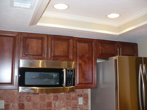 replacing kitchen fluorescent light fixtures tiffany blue accessories image detail for -kitchen tray ceiling with 4 recessed ...