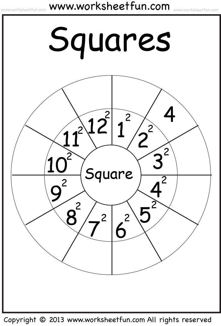 Printables. Perfect Square Worksheets. Lemonlilyfestival