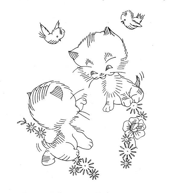 159 best images about EMBROIDERY CAT'S AND KITTEN'S on