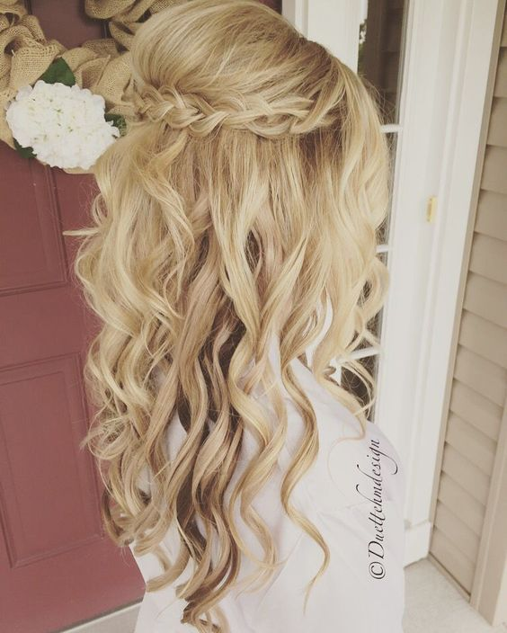 25 Best Ideas About Half Up Hairstyles On Pinterest Bridesmaids
