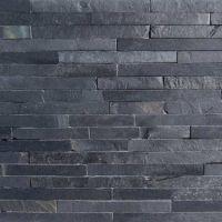 Black Slate Split Face Mosaic Tiles - Medium | Home ...