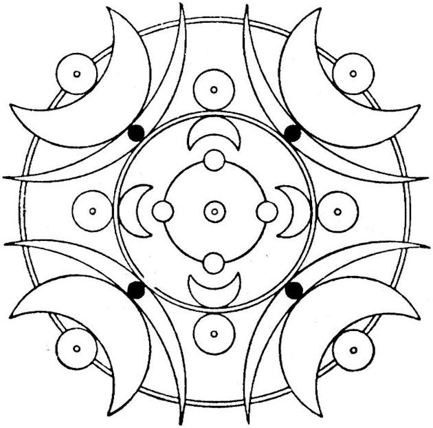 121 best images about Wiccan: Pagan Coloring Pages on