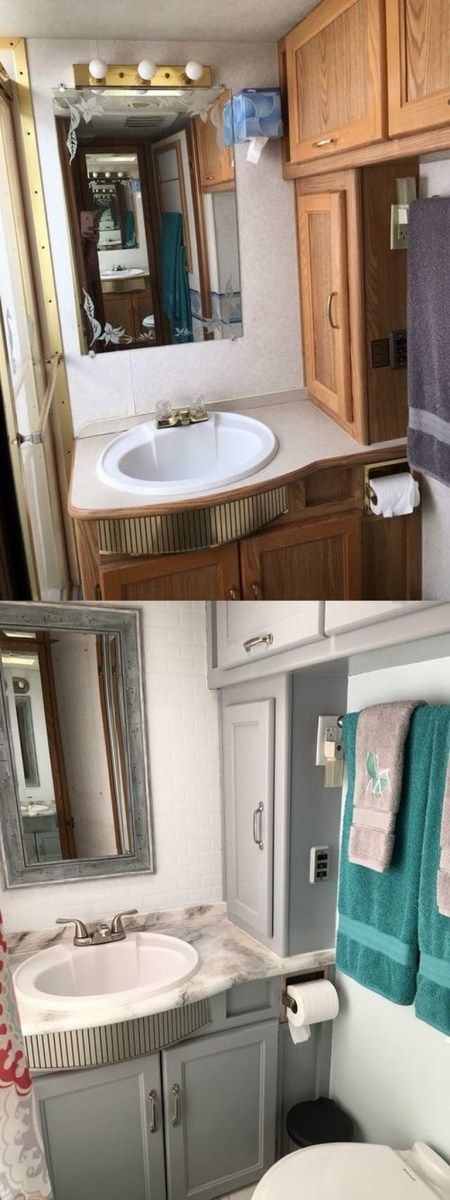 25 best ideas about Rv bathroom on Pinterest  Kitchen and bathroom wallpaper Cheap kitchen