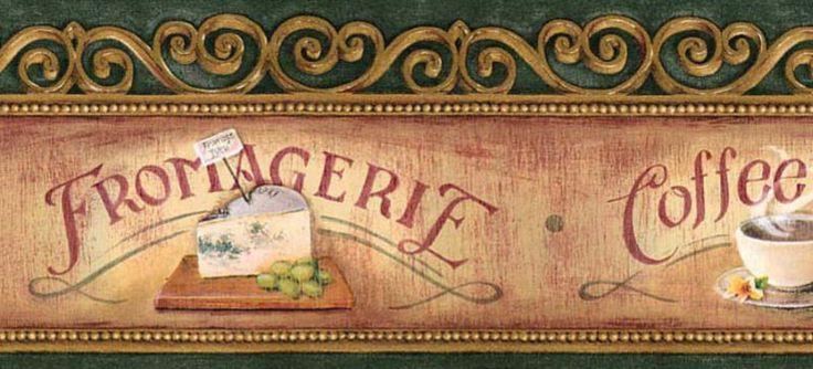 Detalles acerca de Antiguo Coffee Shop Panadera 5 pulgadas pas Wallpaper FRONTERA De Pared