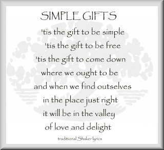 A Concord Pastor Comments: Simple Gifts: Ma, Perlman
