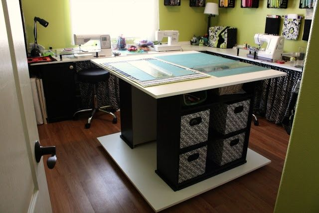 ikea kitchen table with drawers cabinets brands 17 best images about sewing, cutting table/ sewing room on ...