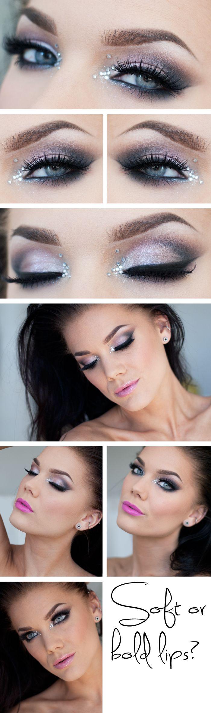 soft pink shadows create the perfect light smokey eye