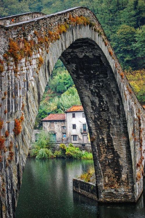 Ancient Stone Bridge, Mozzano, Italy