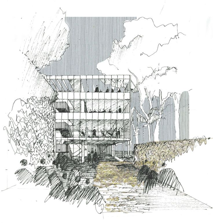 710 best images about Architectural sketches/drawings on