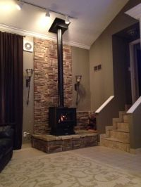 Free standing wood burning stove. | House | Pinterest ...