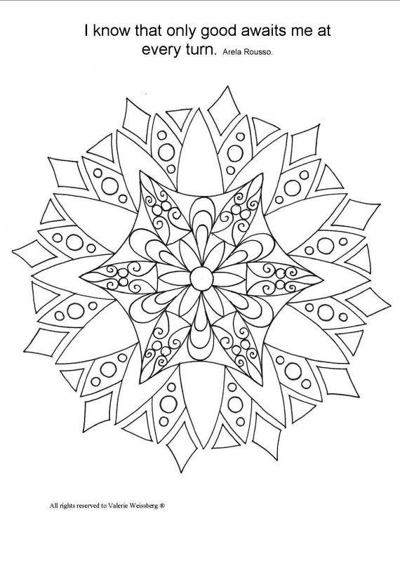 17 Best ideas about Mandala Art Therapy on Pinterest
