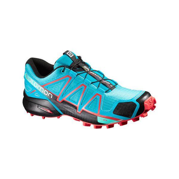 womens salomon speedcross trail running shoe blue chaussures de