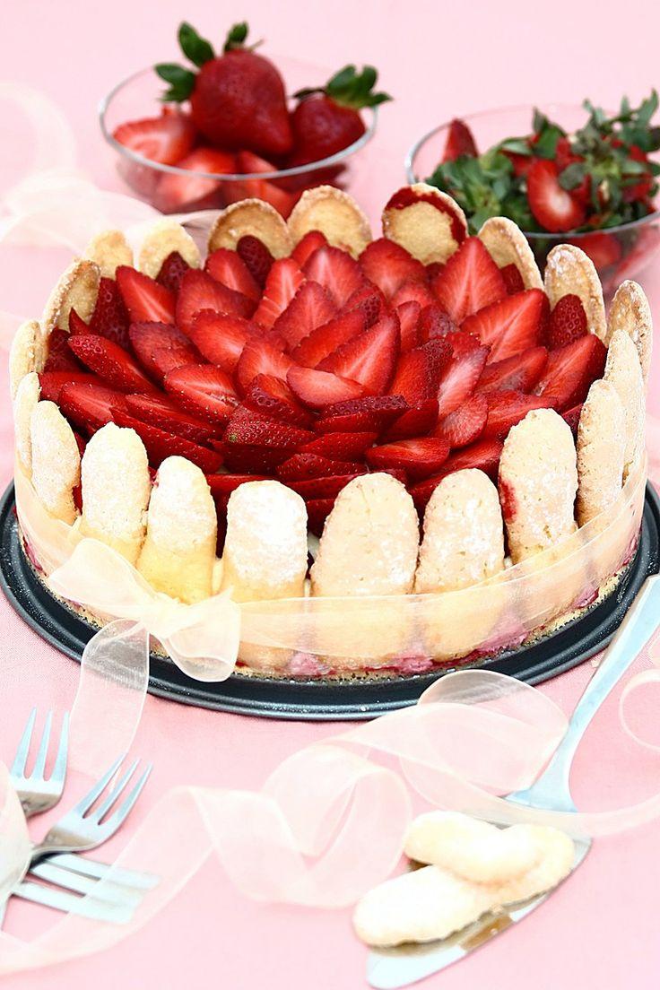 Strawberry Torte Recipe  Dishmaps