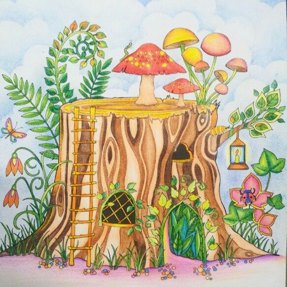 Enchanted Forest By Johanna Basford Colouring Book Do
