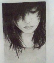 sad emo drawings girl drawing