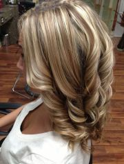 blonde hair with brown lowlights