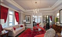 Red and Grey Bedroom | This red and gray/silver color ...