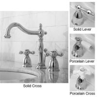 Victorian Chrome Widespread Bathroom Faucet by Kingston