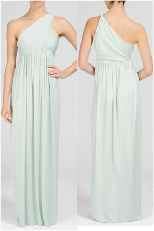 Rachel Pally Long Twist Shoulder Dress, $242 {pretty for bridesmaids}