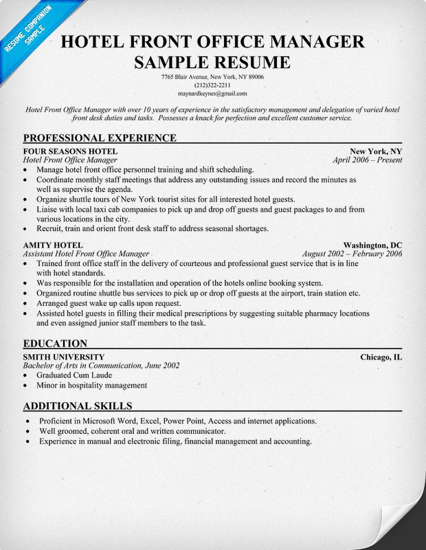 office supervisor resume examples