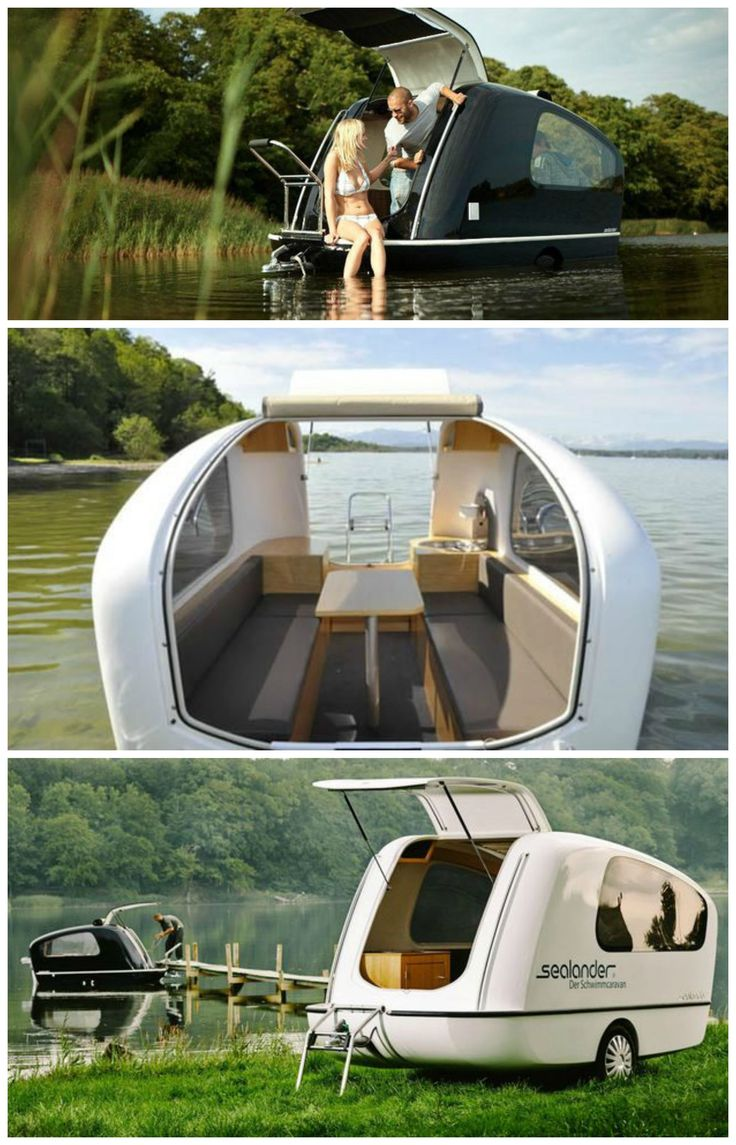 The Sealander Is A German Engineered Boat And RV Hybrid