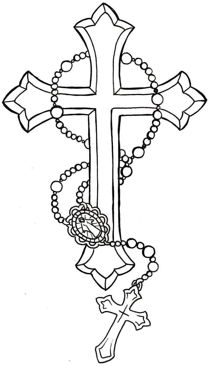 Cross with Rosary Tattoo by ~Metacharis on deviantART